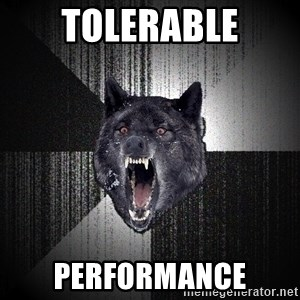 Insanity Wolf - Tolerable performance