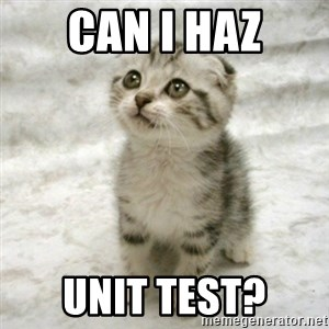 Can haz cat - Can I haz Unit Test?