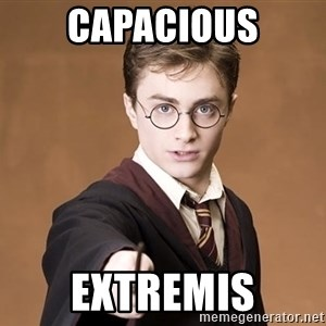 Advice Harry Potter - capacious extremis