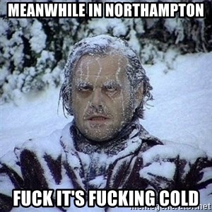 Frozen Jack - meanwhile in northampton fuck it's fucking cold