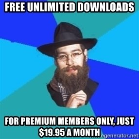 Jewish Dude - Free unlimited downloads For premium members only, just $19.95 a month