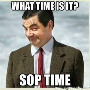 MR bean - What time is it? SOP time