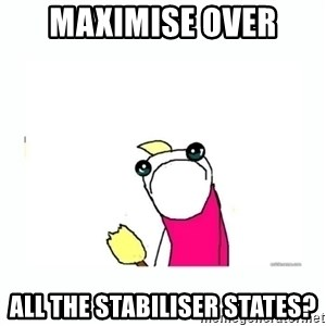 sad do all the things - maximise over  all the stabiliser states?