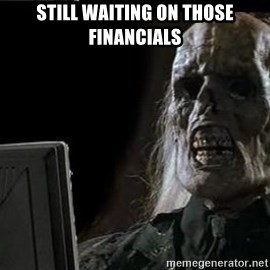 OP will surely deliver skeleton - Still waiting on those financials