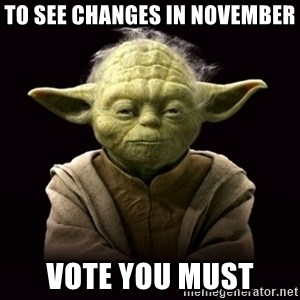 ProYodaAdvice - To see changes in November Vote you must