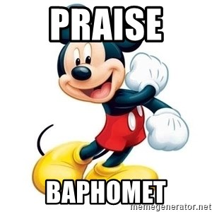mickey mouse - praise  baphomet