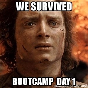 Frodo  - We survived Bootcamp  Day 1