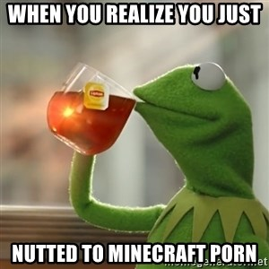 Kermit The Frog Drinking Tea - When you realize you just Nutted to minecraft porn