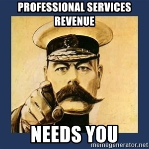 your country needs you - PROFESSIONAL SERVICES REVENUE NEEDS YOU