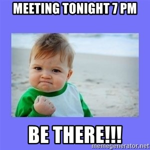 Baby fist - Meeting Tonight 7 pm Be there!!!
