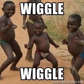 african children dancing - wiggle wiggle