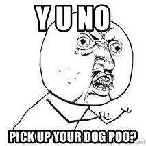 Y U SO - Y U no pick up your dog poo?