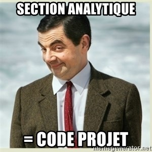 MR bean - SECTION ANALYTIQUE = code projet