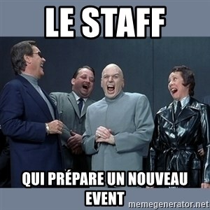 Dr. Evil and His Minions - Le staff  qui prépare un nouveau event