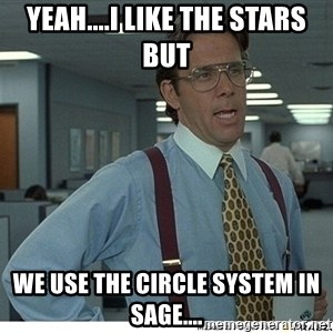That would be great - Yeah....i like the stars but we use the circle system in sage....
