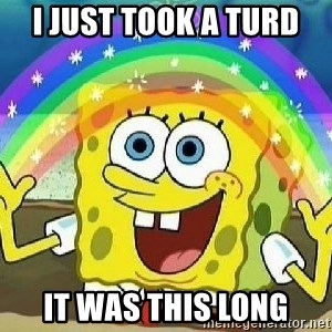 Imagination - i just took a turd it was this long