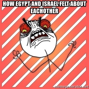 iHate - How Egypt and Israel felt about eachother