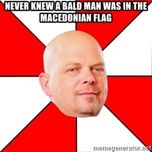 Pawn Stars - Never knew a bald man was in the Macedonian flag