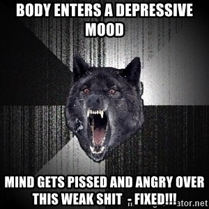 Insanity Wolf - body enters a depressive mood mind gets pissed and angry over this weak shit  - fixed!!!
