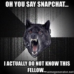 Insanity Wolf - Oh you say SnapChat... I actually do not know this fellow...