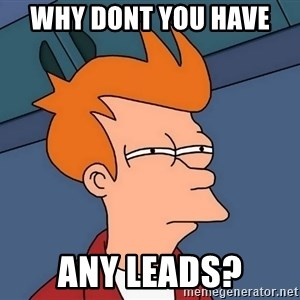 Futurama Fry - why dont you have  any leads?