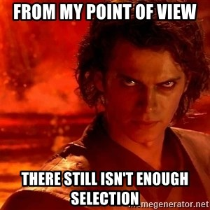 Anakin Skywalker - From my point of view There still isn't enough selection