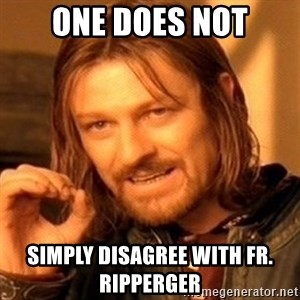 One Does Not Simply - One does not simply disagree with Fr. Ripperger