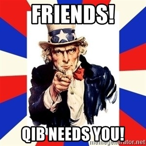 uncle sam i want you - Friends! QIB Needs You!