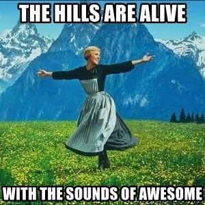 Look at all the things - The Hills are Alive With the sounds of Awesome