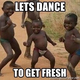 african children dancing - lets dance  to get fresh