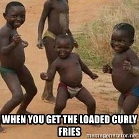 african children dancing - when you get the loaded curly fries