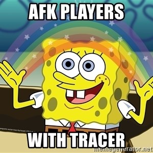 spongebob rainbow - AFK PLAYERS with tracer