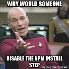 Picard Wtf - why would someone disable the npm install step
