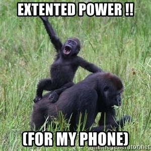 Happy Gorilla - Extented Power !! (for my phone)