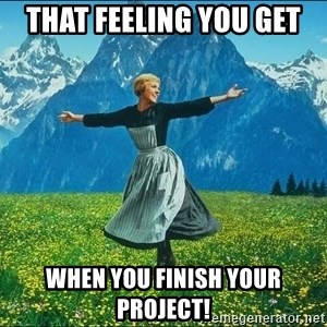 Look at all the things - That feeling you get when you finish your project!