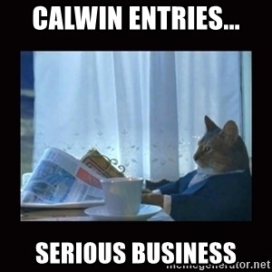 i should buy a boat cat - CalWin entries... serious business
