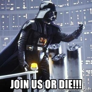 Darth Vader Shaking Fist - join us or die!!!