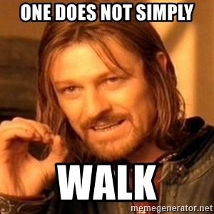 One Does Not Simply - one does not simply walk