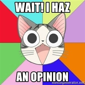 Nya Typical Anime Fans  - Wait! I Haz AN OPINION