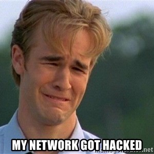 Crying Man - my network got hacked