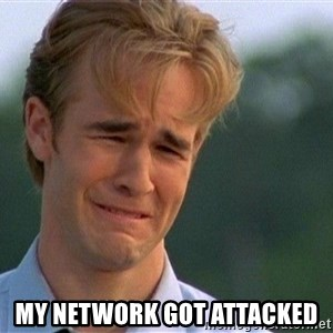 Crying Man - my network got attacked
