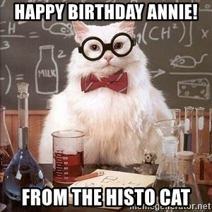 Chemistry Cat - Happy Birthday Annie! From the Histo Cat