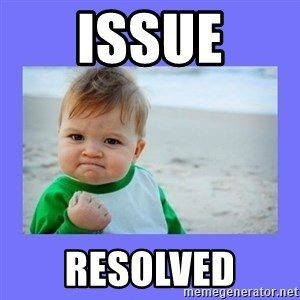 Baby fist - Issue Resolved