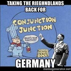 Grammar Nazi - Taking the rieghndlands back for Germany