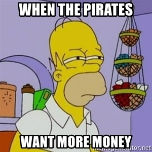 Simpsons' Homer - When the pirates Want more money