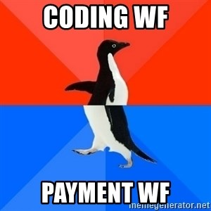 Socially Awesome Awkward Penguin - Coding WF Payment WF