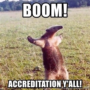 Anteater - Boom! Accreditation Y'all!