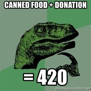 Philosoraptor - CANNED FOOD + DONATION  = 420