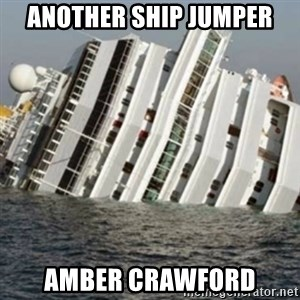 Sunk Cruise Ship - Another Ship Jumper Amber Crawford
