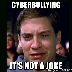 crying peter parker - CYBERBULLYING IT's not a joke